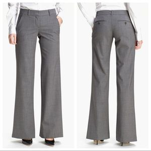 Theory Gray Emery Tailor Wide Leg Trouser Size 8